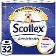 Papel higienico Acolchado Paquete 32 rollos Scottex