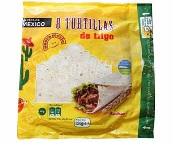 Auchan Tortillas de Trigo Bolsa 8 Unidades 320 Gramos