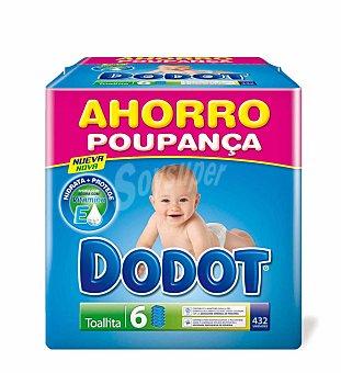 Dodot Pañales talla 2 para niños de 3-6 kilogramos + toallitas 144 unidades 432 unidades + 144 toallitas