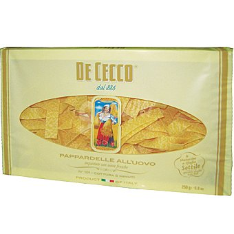 De Cecco Parpadelle al huevo Bolsa 250 g