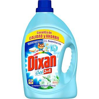 Dixan Detergente máquina líquido gel 2 en 1 con un toque de suavizante botella 38 dosis Botella 38 dosis