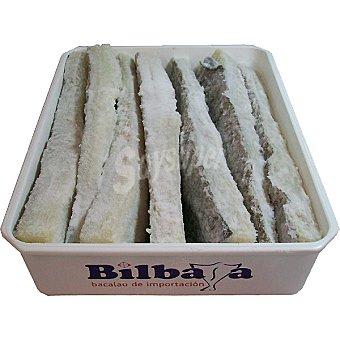 BILBASA Bacalao salado lomo largo con espina  750 g (peso aproximado pieza)