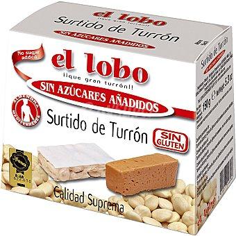 El Lobo Surtido de turrón Jijona y Alicante I.G.P. sin azúcar Estuche 150 g