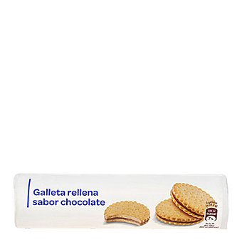 Carrefour Galletas rellenas de chocolate 250 g