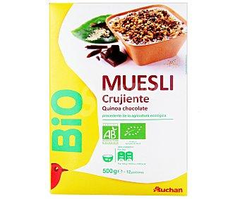 Auchan Muesli Crujiente de Quinoa y Chocolate Ecológico 500 gramos