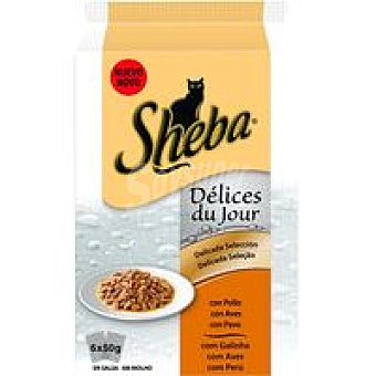 Sheba Delices de aves Pack 6x50 g