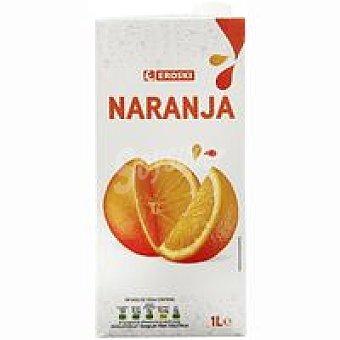 Eroski Zumo natural de naranja Brik 1 litro