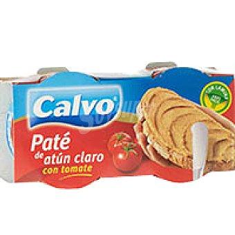 Calvo Paté de atún claro con tomate Pack 2x85 g