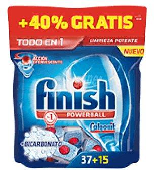 Finish Lavavajillas máquina todo EN 1 Bicarbonato 37 pastillas