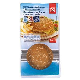 DIA Hamburguesa de pollo pack 2 envases 125g