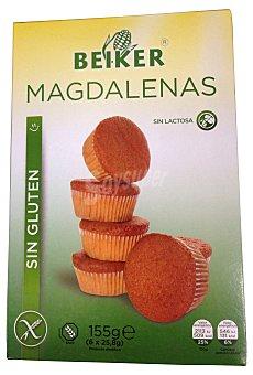 Beiker Magdalena sin gluten Paquete de 6 unidades (115 g)