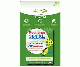 Equalink Cartuchos Reciclados de Tinta H364XL Amarillo 1u