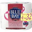 Papel higienico Blue Bay super compacto paquete 4 rollos Paquete 4 rollos Tivoli