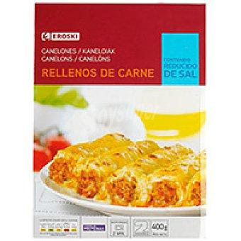 Eroski Canelones de carne Bandeja 400 g