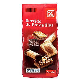 DIA Barquillo surtidos chocolate Bolsa 400 grs