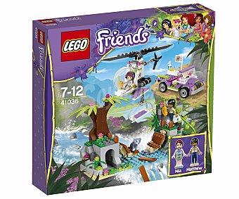 LEGO Juego de Construcción Friends Rescate en el Puente de Cuerda, Modelo 41036 1 Unidad