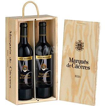 MARQUES DE CACERES vino tinto gran reserva D.O. Rioja  Estuche 2 botellas 75 cl