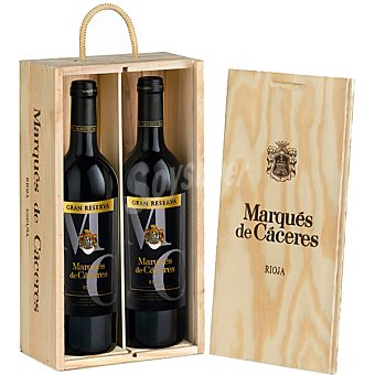 Marqués de Cáceres vino tinto gran reserva D.O. Rioja  Estuche 2 botellas 75 cl