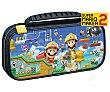 Funda de viaje diseño Mario Maker con separador-soporte y funda para juegos compatible con Switch Lite Swtich Lite  Nintendo