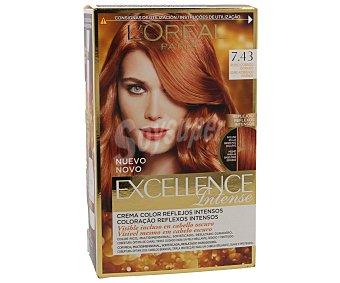 Excellence L'Oréal Paris Intense tinte Rubio Cobrizo Dorado nº 7.43 crema color multi-reflejos intensos caja 1 unidad