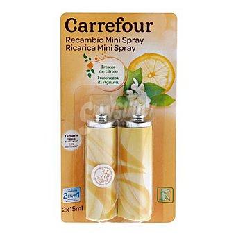 Carrefour Ambientador mini spray Cítrico recambio 2 ud