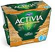 Yogur con bífidus naturales, 0% materia grasa y cereales Pack 4 x 120 g Activia Danone