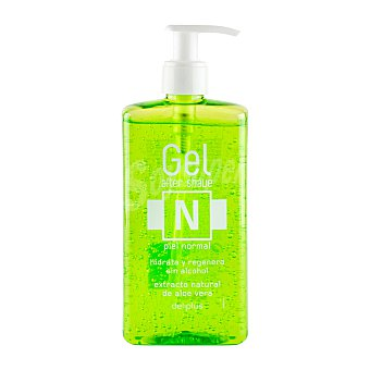 Deliplus After shave aloe vera piel normal con dosificador (envase verde) Botella 300 ml
