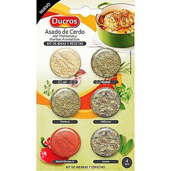 Ducros kit de ideas y recetas para asado de cerdo con manzana y hierbas aromáticas Estuche 8 g