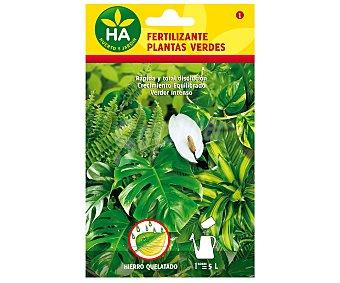 HA-Huerto y Jardín Fertilizante soluble plantas verdes, sobre para preparar 5 Litros 20 Gramos