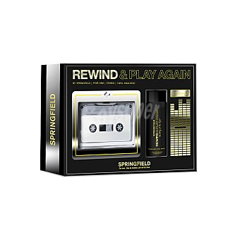 Springfield Estuche Rewind & Play Again Black: colonia 100 ml y Cool Spray 100 ml 1 ud