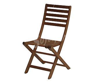 PLOOS Silla plegable para jardín modelo Oslo. Fabricada en madera de Acacia 100% FSC y 46x56x90 centímetros 1 unidad