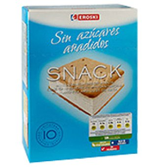 Eroski Mini sandwich sin azúcar Pack 10x50 ml