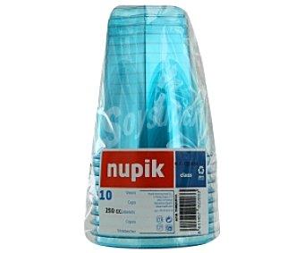 Nupik Vasos azul turquesa 250cc 10 Unidades