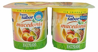 Hacendado Yogur macedonia Pack 4 x 125 g - 500 g