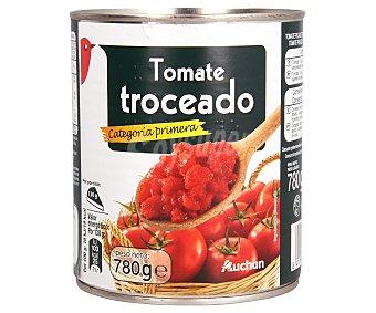 Auchan Tomate troceado de categoría de primera Lata de 780 gramos