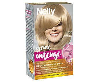 Nelly Tinte de color rubio clarísimo, número 11/00 Creme intense