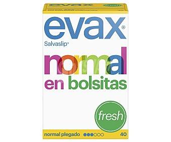 Evax Salvaslips normales, plegados en bolsitas fresh 40 uds