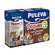 Leche infantil liquida crecimiento cereales Peques 3 al cacao a partir 1 año Pack 3 x 200 cc - 600 cc Puleva