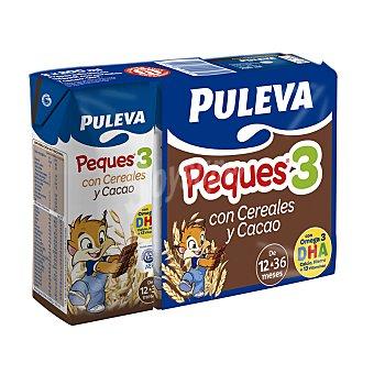 Puleva Leche crecimiento con cereales al cacao desde 12 meses Pack 3 x 200 ml