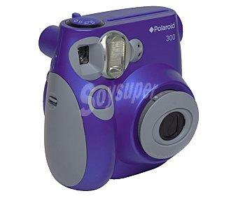 Polaroid PIC300 Cámara instantánea instantáneas tamaño tarjeta de visita, flash automático, alimentación a pilas, color violeta