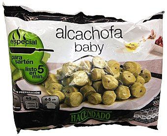 Hacendado Alcachofa baby congelada Paquete 300 g
