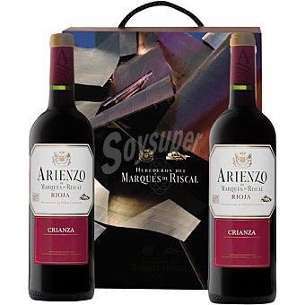 ARIENZO DE MARQUES DE RISCAL Vino tinto crianza D.O. Rioja  Estuche 2 botellas 75 cl