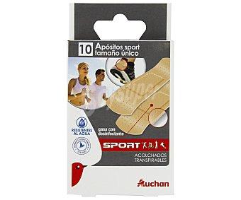 Auchan Apósitos acolchados de 7 x 2 cm, transpirables y resistentes al agua 10 uds