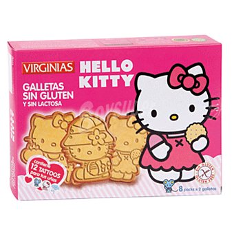 Virginias Galletas hello kitty sin lactosa caja 120 gr Caja 120 gr