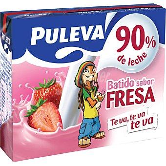 Puleva Batido de fresa Pack 3 envase 200 ml