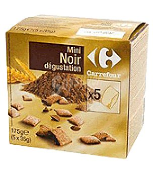 Carrefour Mini cereales de chocolate negro 175 g