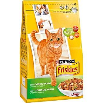 Friskies Purina Alimento completo para gato adulto de conejo y pollo con verduras bolsa 1,5 kg Bolsa 1,5 kg