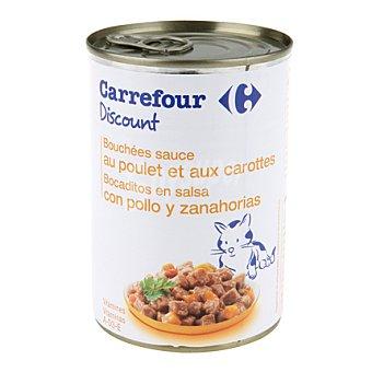 Carrefour Discount Bocaditos para gatos de pollo 400 gr