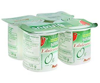 Auchan Yogur Bifidus Natural Edulcorado 0% Materia Grasa 4x125g
