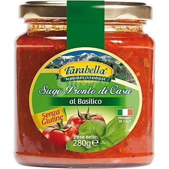 FARABELLA Salsa de tomate con albahaca y aceite de oliva virgen extra sin gluten Envase 280 g